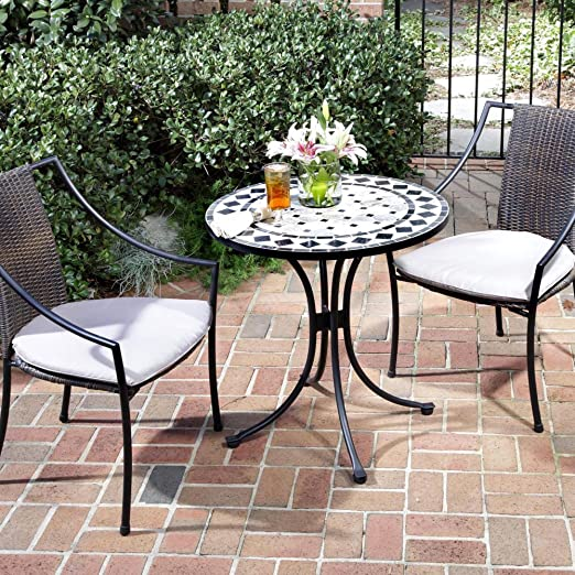Amazon.com: Home Styles Three Piece Outdoor Bistro Set with Marble .