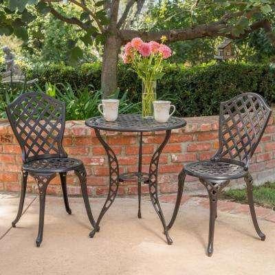 Cast Aluminum - Black - Bistro Sets - Patio Dining Furniture - The .