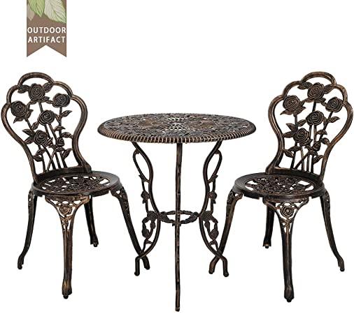 Amazon.com: FDW Outdoor Bistro Set Patio Bistro Table Set 3 Piece .