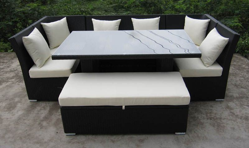Sectional dinette set $1,700 | Outdoor wicker patio furniture .