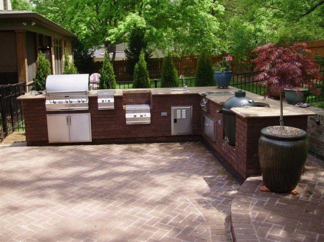 Trendige Outdoor Küche im Garten einrichten-Ideen für den .