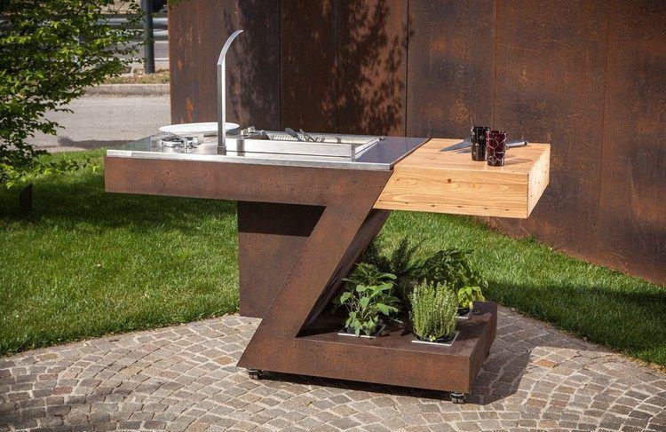 Designer Multifunktionstisch – moderne Küche für Innen und Außen .