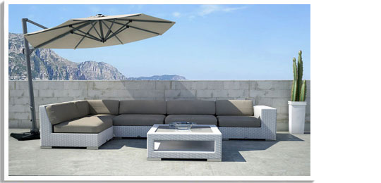 BLOOM | high end German outdoor furniture, umbrella and cushion .