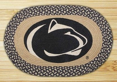 Oval Patch Penn State Nittany Lions Collegiate Braided Earth Rug
