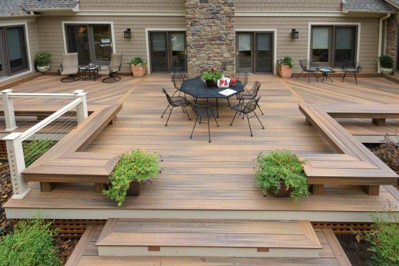 15 Modern Deck Design Photos | Backyard patio designs, Backyard .