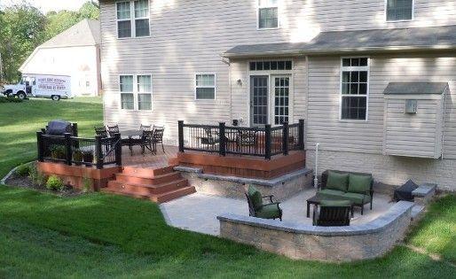 Custom Deck Photos in Maryland | Patio deck designs, Deck designs .