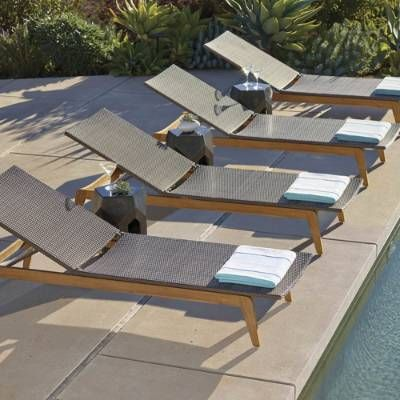 Santino Chaise, Set of Two | Pool chaise lounge, Pool lounge .