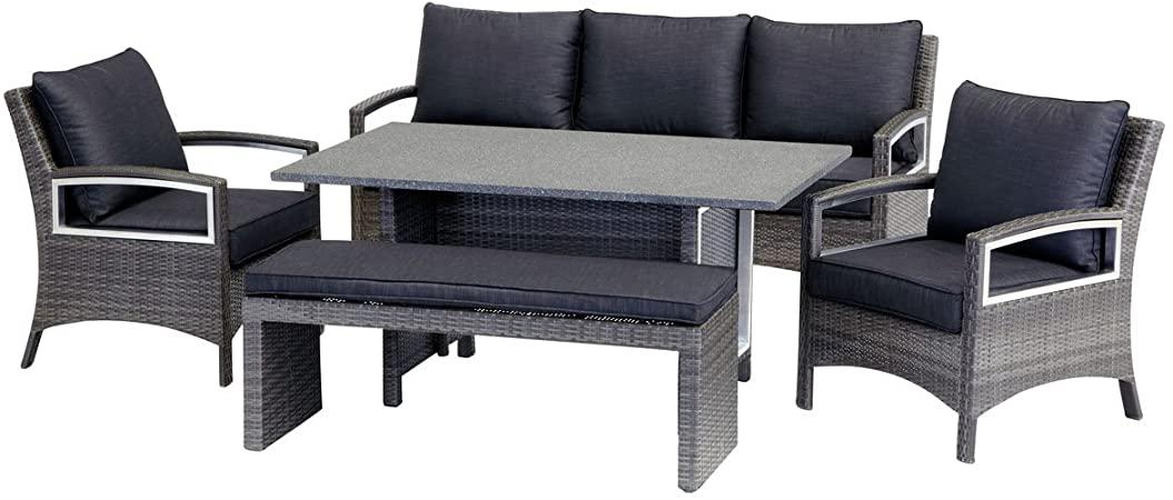 Amazon.com : Contempo Lounge Dining Set : Garden & Outdo