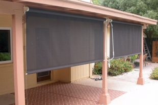 Roll Down Patio Shades | Patio shade, Patio blinds, Outdoor blinds .
