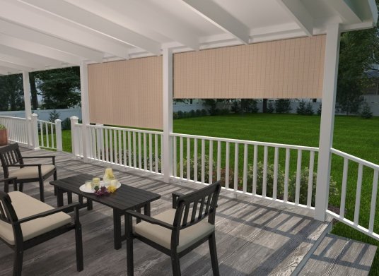 Outdoor Roller Shades and Exterior Roll Up Patio Shades - Coolar
