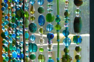 Perlen Vorhang Multicolor Glas Perlen Suncatcher von RONITPETERART .