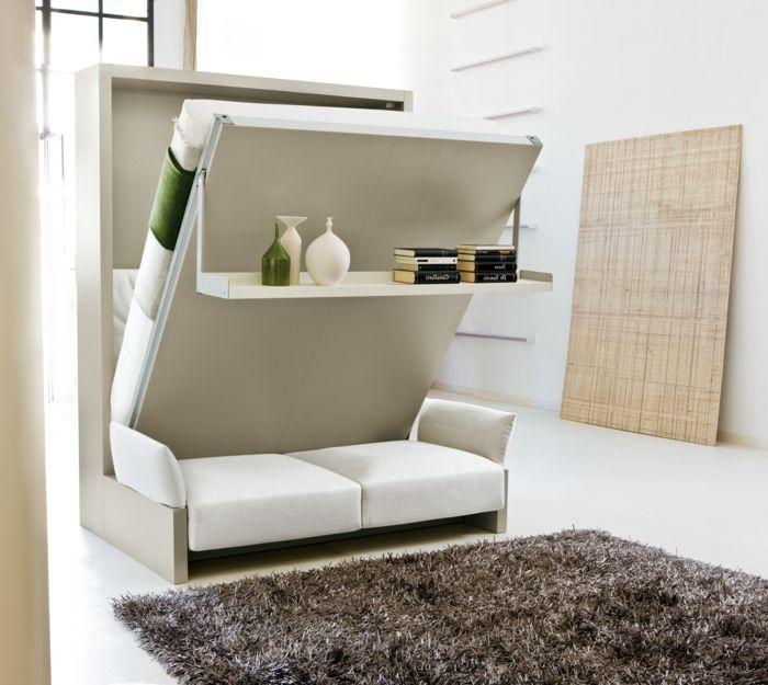 Platzsparende Möbel: 70 super Ideen!   Klappbetten, Platzsparende .