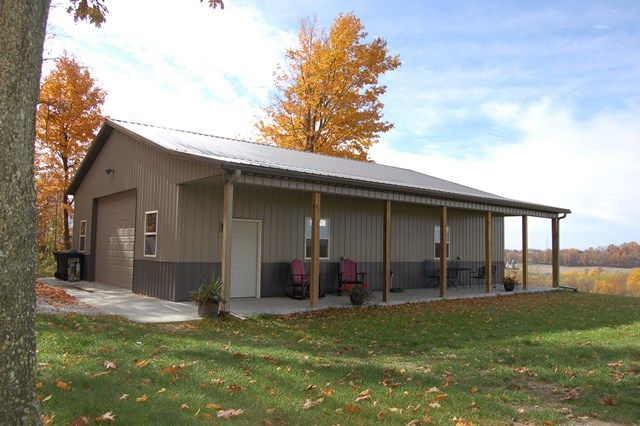 Post Beam Barn Plans For Sale   Pole barns direct, Pole barn house .