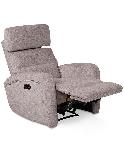 Furniture Stellarae Fabric Power Recliner With Power Headrest And .
