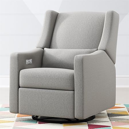 Babyletto Kiwi Power Recliner Glider + Reviews   Crate and Barr