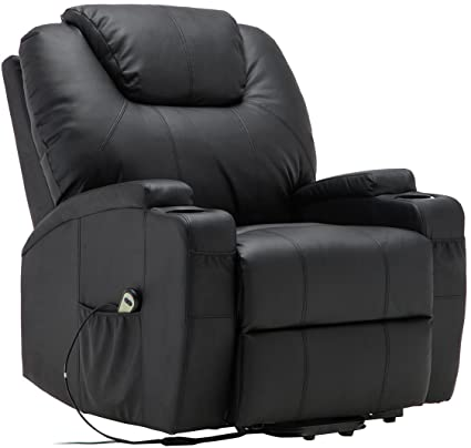 Amazon.com : Electric Lift Power Recliner Chair Heated Massage .