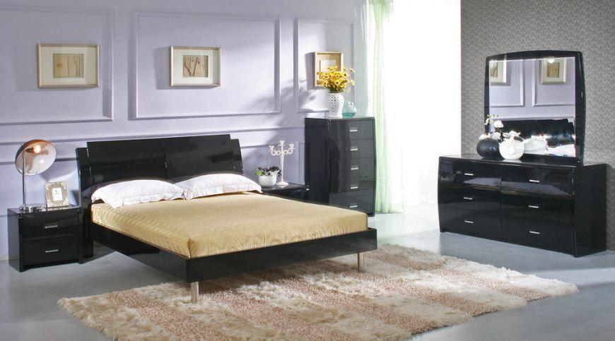 Black Queen Schlafzimmer Sets | Schlafzimmer set, Moderne .