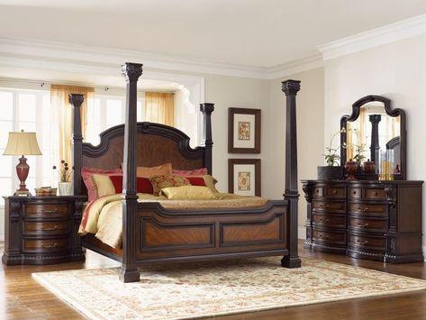 Black King Schlafzimmer Suite Mit Queen Size Schlafzimmer Sets .