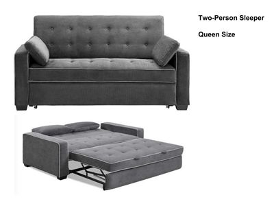 Augustine Queen Loveseat Convertible Sofa Bed by Lifestyle .