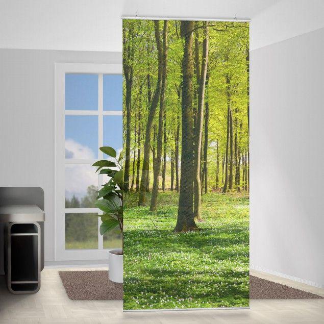 Raumteiler - Waldwiese 250x120cm | Raumteiler vorhang, Raumteiler .