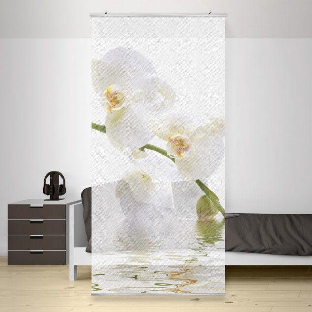 Raumteiler - Wellness Orchidee - Blumenbild 250x120cm in 2020 .
