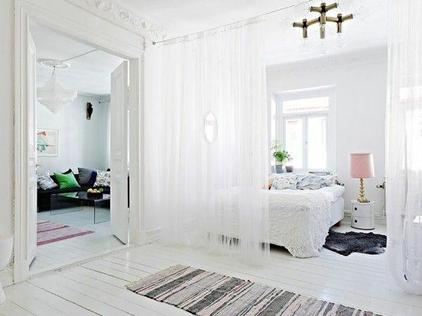 Vorhang als Raumtrenner verwenden - kluge Wohnideen | Raumteiler .