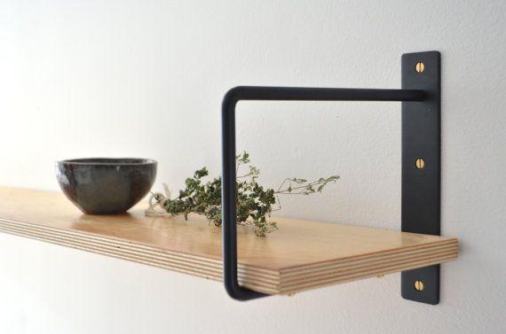 Klassische minimalistische Regalhalterungen / von MDTMobilier .