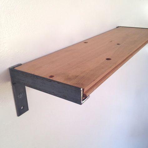 Wall Shelf bathroom Kitchen Shelf Reclaimed Wood & Steel #shelf .