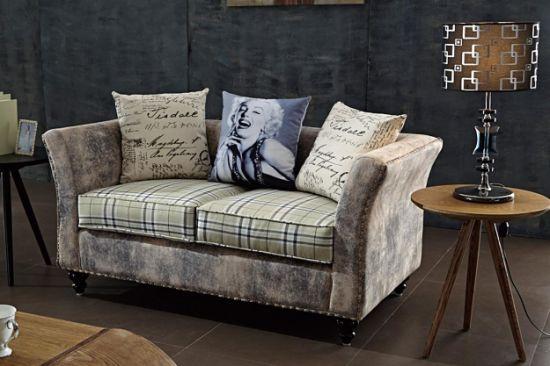 China Loft Style Industrial Restaurant Furniture Denim Loveseat .