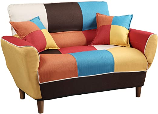 Amazon.com: Knocbel 46.5 Inch Convertible Upholstered Sofa Couch .