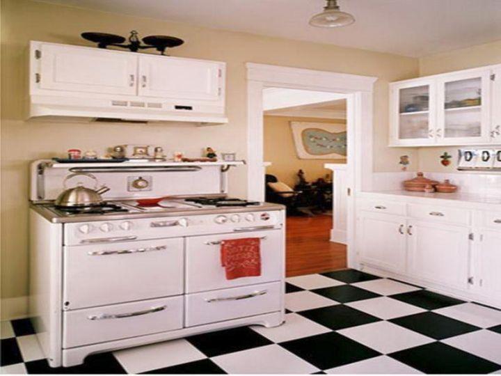 20 Edel Vintage und Retro Küche Designs | Weiße küchengeräte .