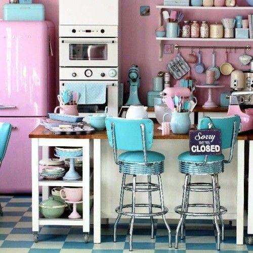 Retro Küche einrichten: 50 Ideen für einen gelungenen Sprung zu .