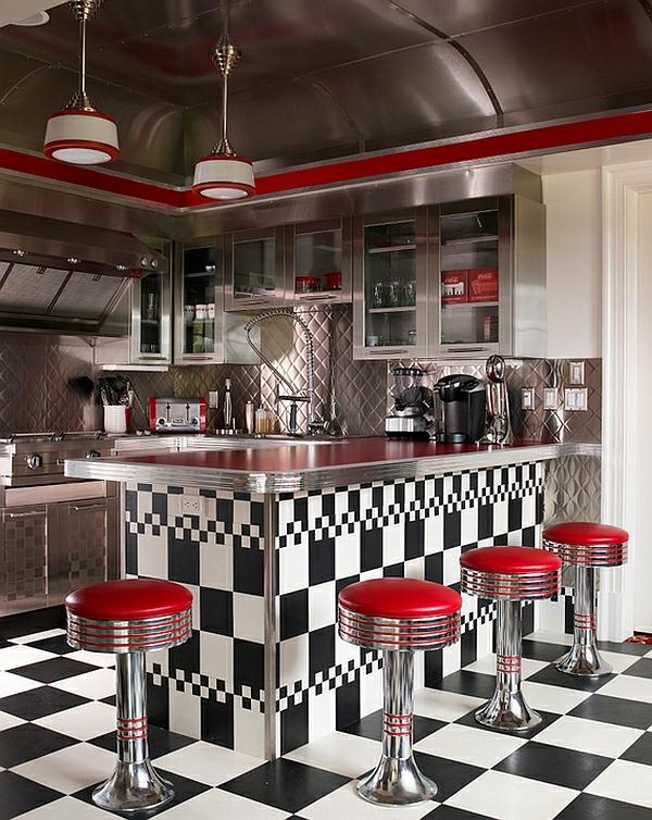 Retro Küche - die neuen, alten Kücheneinrichtung Trends für 20