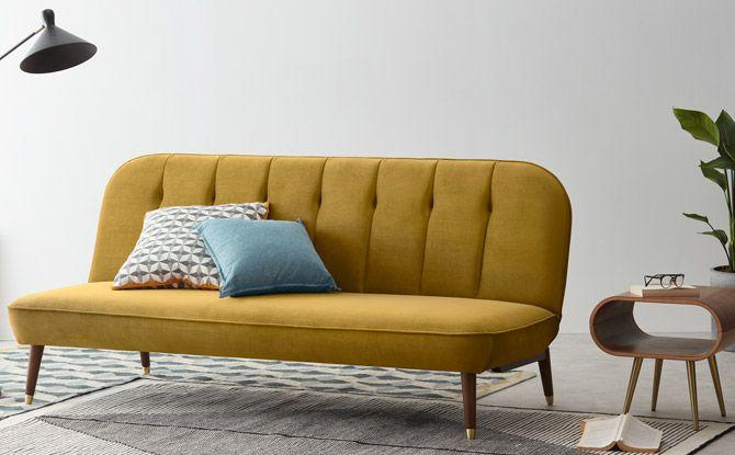 Margot vintage-style sofa bed at Made   Sofa bed design, Vintage .