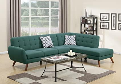 Amazon.com: Madison Modern Retro Sectional Sofa (Laguna): Kitchen .