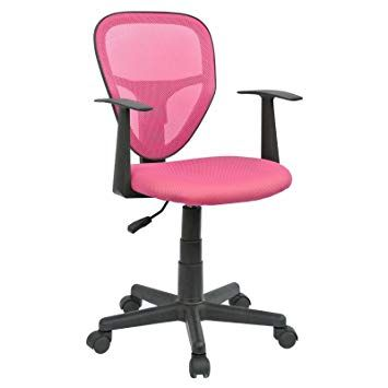 Geben Sie Ihrem Büro einen Look mit einem rosa Bürostuhl | Stühle .