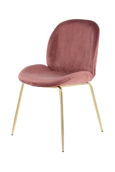 Stuhl Charlize 110 2er-Set Altrosa / Messing   Rosa stühle, Stühle .