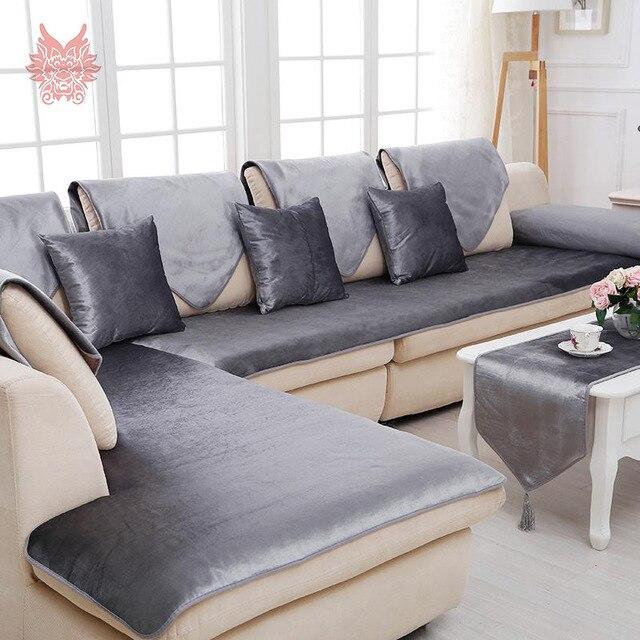Beste Kostenloser versand grau camel rot schwarz samt sofa .