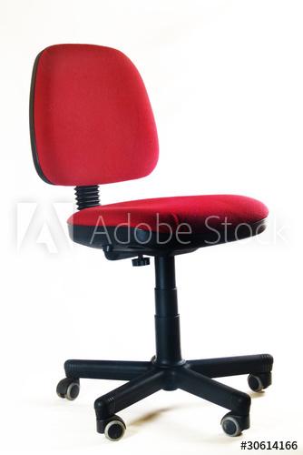 Roter Bürostuhl