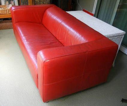 IKEA Rotes Leder Sofa | Ikea ledersofa, Rotes leder, Ikea eckso