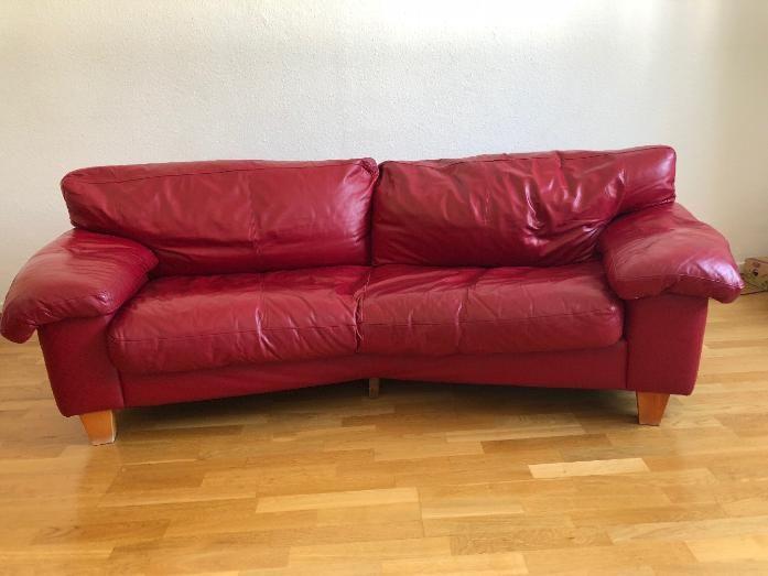 Das exquisite rote Ledersofa in Ihren Wohnzimmern | Ledersofa .