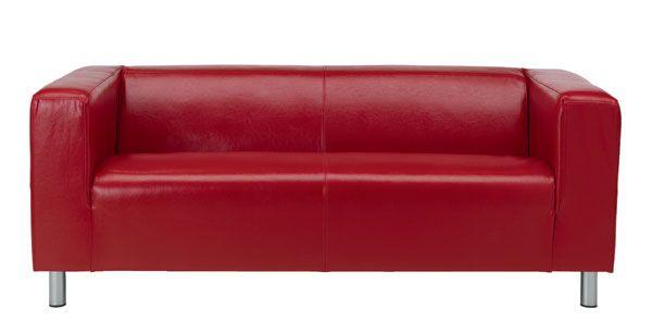 Verführerische IKEA Rot Leder Sofa (mit Bildern) | Ikea ledersofa .