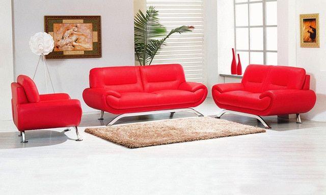 Warum rotes Sofa und Liebessitz der neue Trend ist | Echt leder .