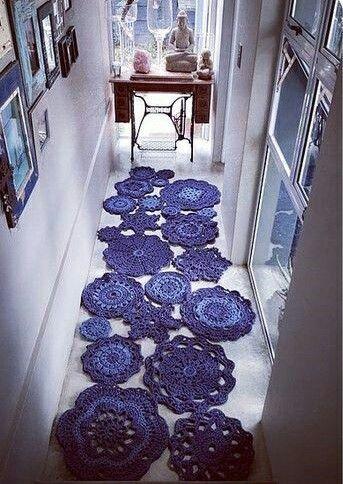Läufer #laufer | Crochet doily rug, Crochet carpet, Crochet m