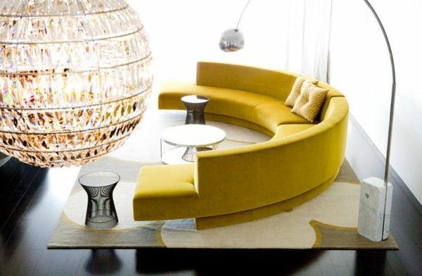 Runde Sofas für eine harmonische und friedliche Stimmung zu Hause .