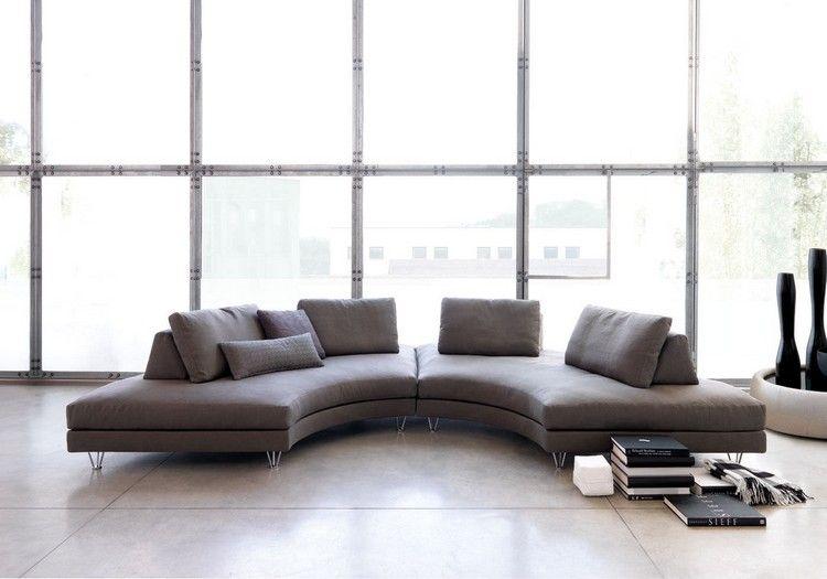 Runde Sofas modern in Szene setzen – 50 Beispiele | Rundes sofa .