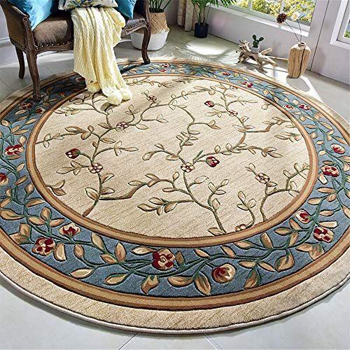 Zxcvlina Vintage Bodenteppich Teppiche Runde Innenbereich Teppich .