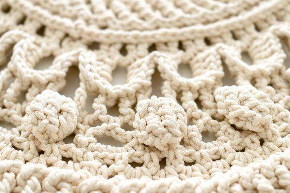 Große häkeln Teppich runder Teppich 115 In Deckchen | Teppich .