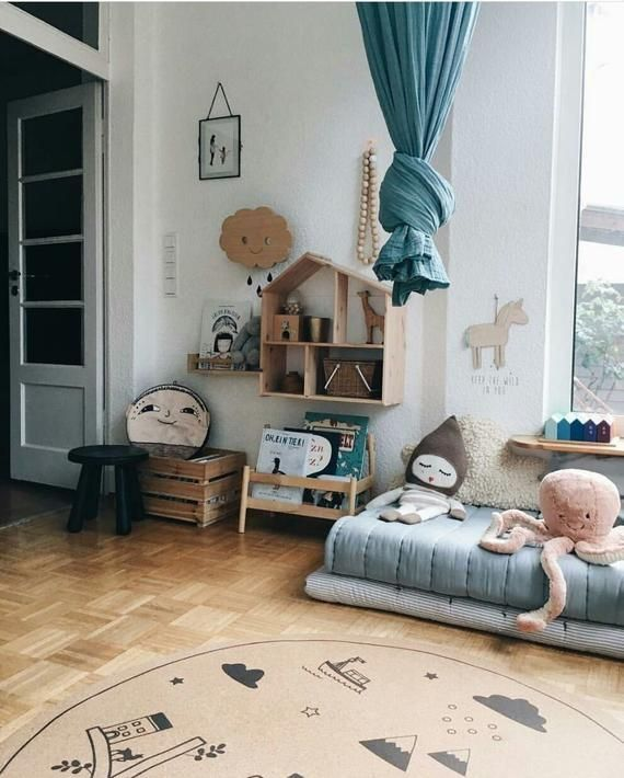 Baby Mädchen Kinderzimmer Teppich, Runde Teppiche, Kinder, Dekor .