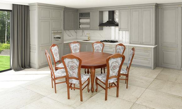 Esstisch Garnitur Tisch + 8x Stühle Stuhl Esszimmer Garnitur Rund .
